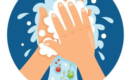 washing hands vector