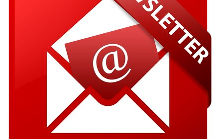 66310791 - newsletter red square button